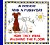přebal knihy A Doggie and a Pussycat: How They Were Washing the Floor